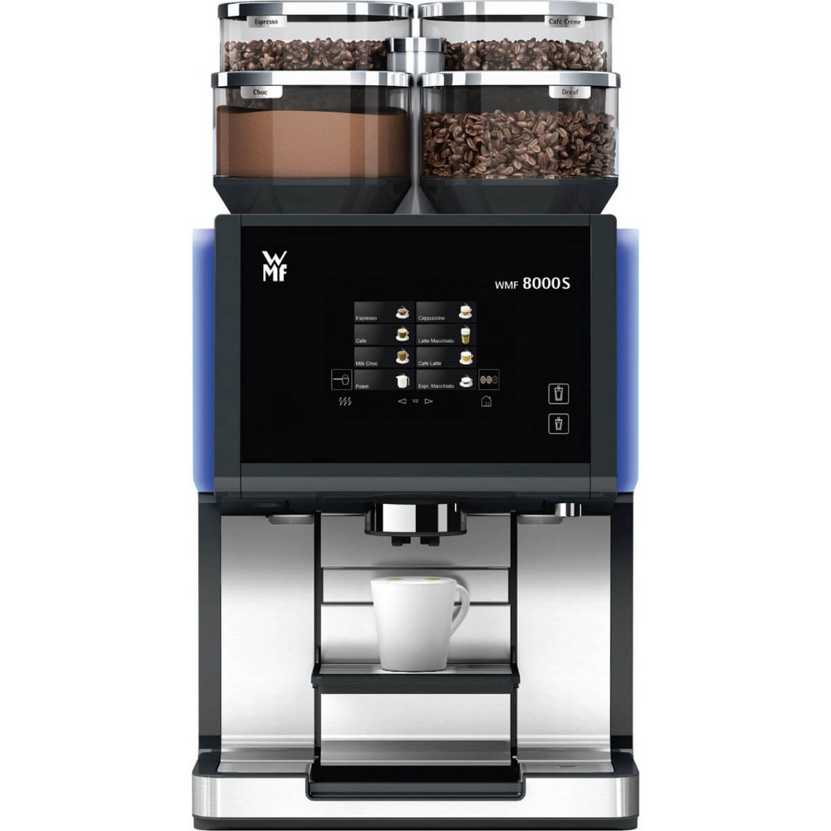 coffee machine wmf 8000s single choc single coffee. Black Bedroom Furniture Sets. Home Design Ideas